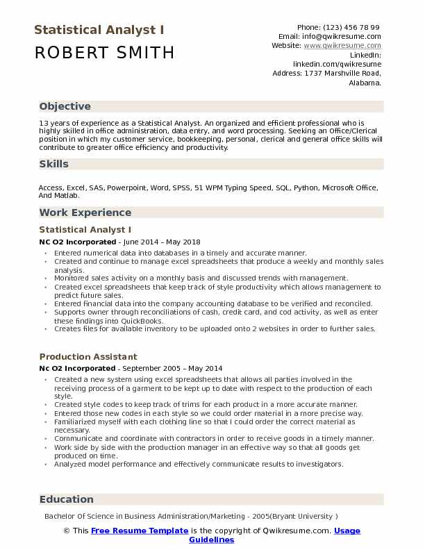 statistical analyst resume samples qwikresume bioinformatics skills pdf for customer Resume Bioinformatics Skills Resume