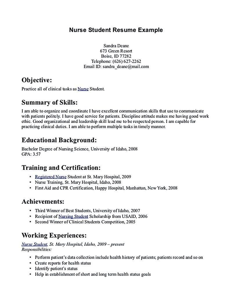 student resume examples and templates nurse nursing template first time siebel tester lpc Resume First Time Student Resume