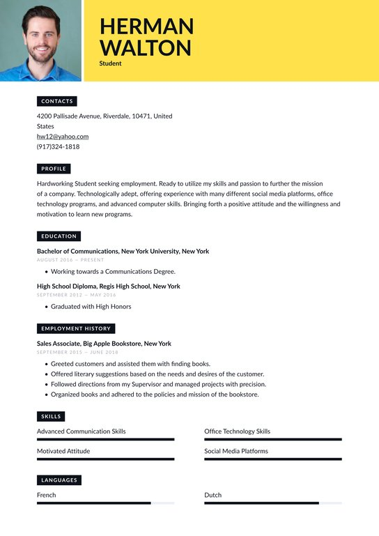 student resume examples writing tips free guide io first time entry level office Resume First Time Student Resume