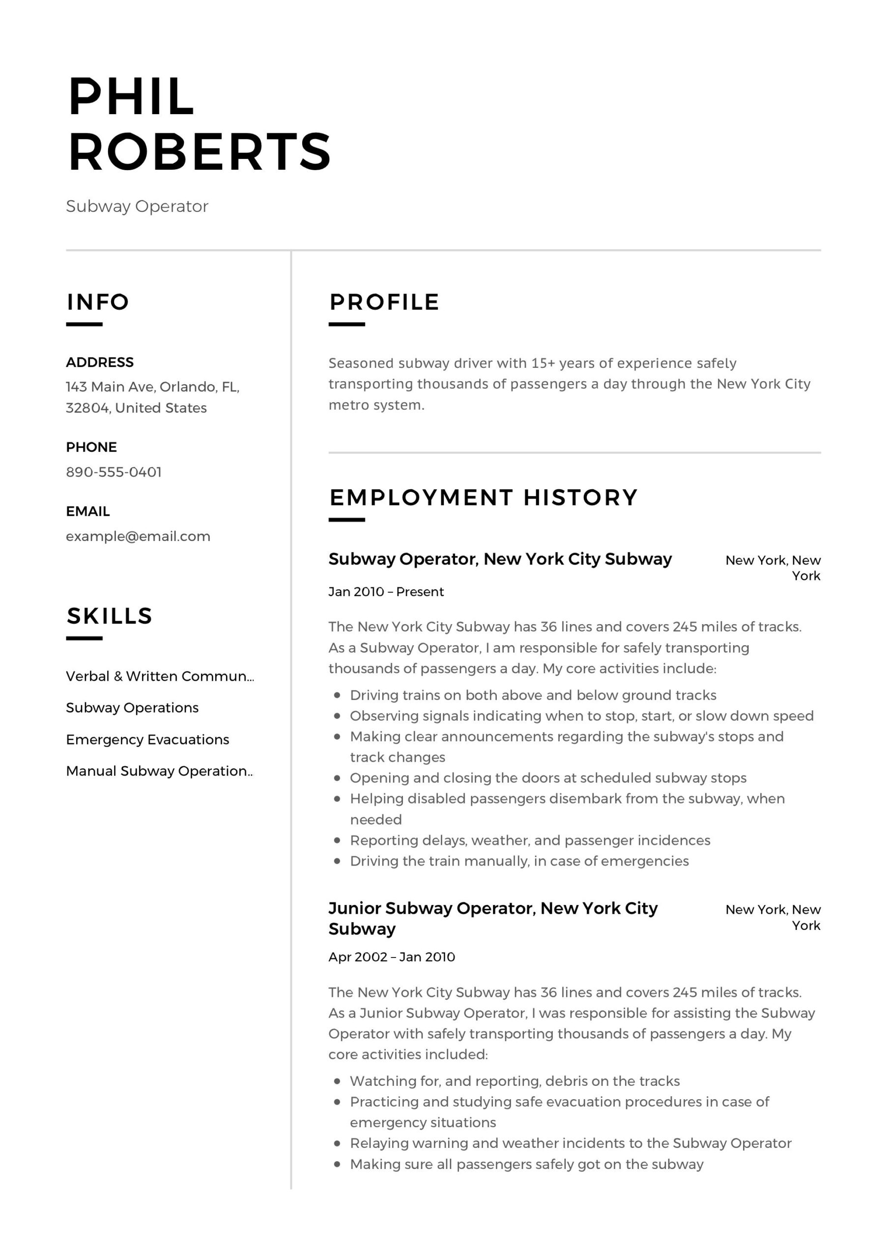 subway operator resume template in examples professional veterinary technician templates Resume Subway Resume Templates