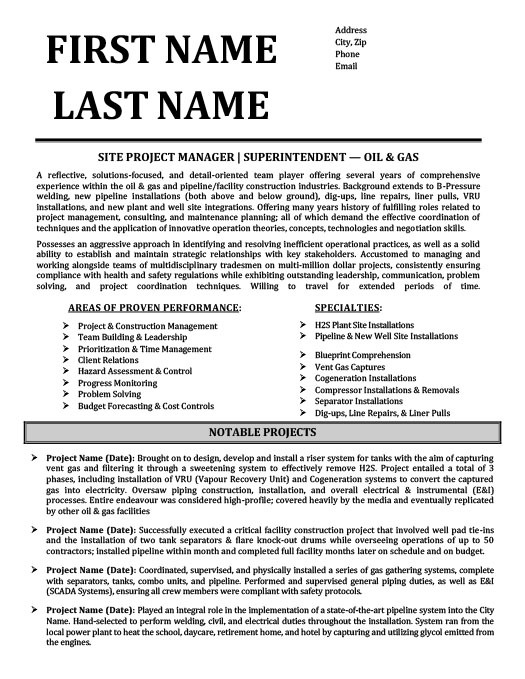 superintendent oil gas resume template premium samples example and examples guidelines Resume Oil And Gas Resume Examples