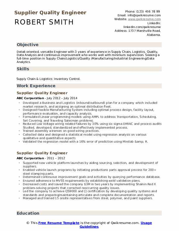 supplier quality engineer resume samples qwikresume objective pdf good for first job Resume Quality Engineer Resume Objective