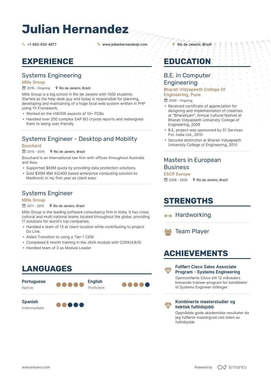 systems engineer resume examples pro tips featured enhancv entry level general objective Resume Entry Level Systems Engineer Resume