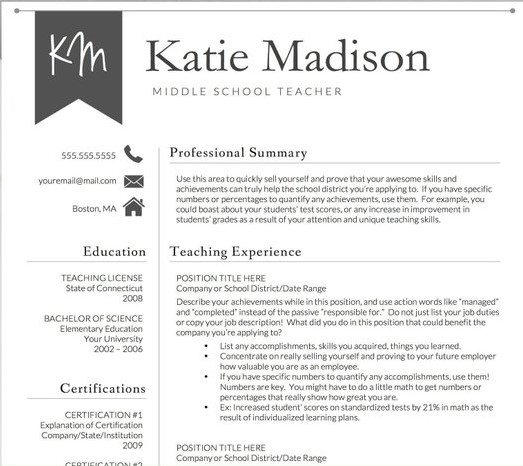 teacher resume sample format templates examples poultry makeup artist for sephora manager Resume Teacher Resume Examples 2020