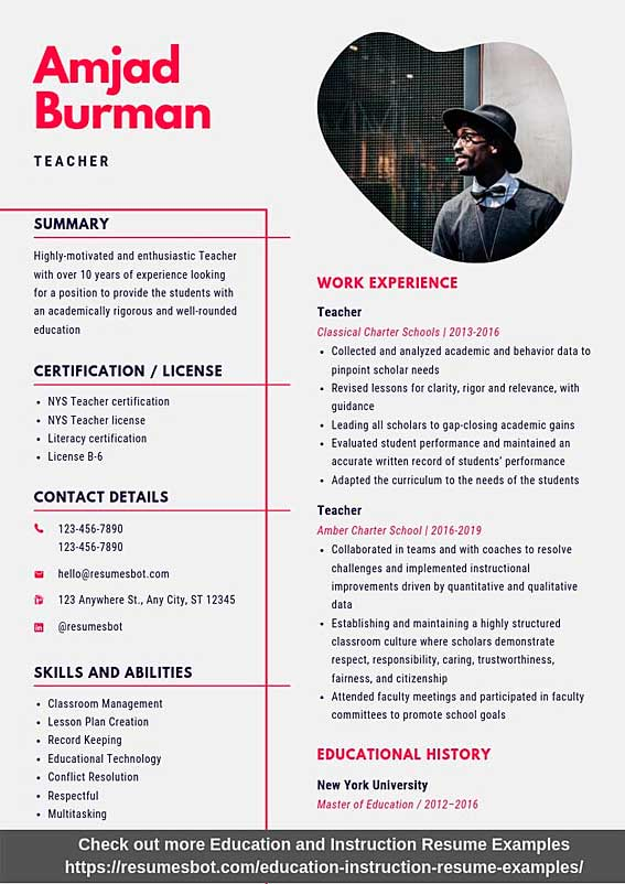 teacher resume samples templates pdf resumes bot instructional technology sample example Resume Instructional Technology Resume Sample