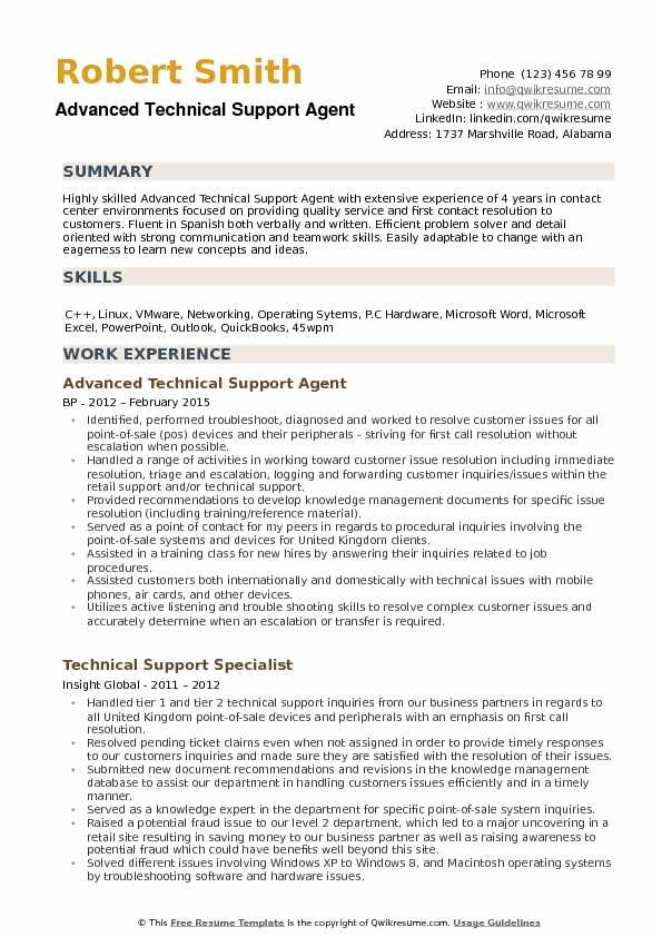 technical support agent resume samples qwikresume summary pdf language on example daycare Resume Technical Support Summary Resume