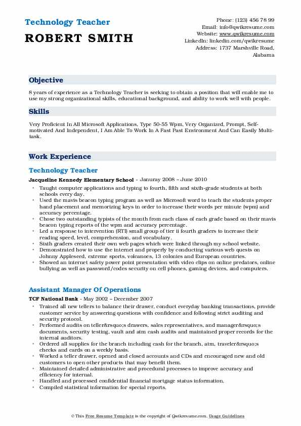 technology teacher resume samples qwikresume skills of pdf database sample short and Resume Skills Of A Teacher Resume