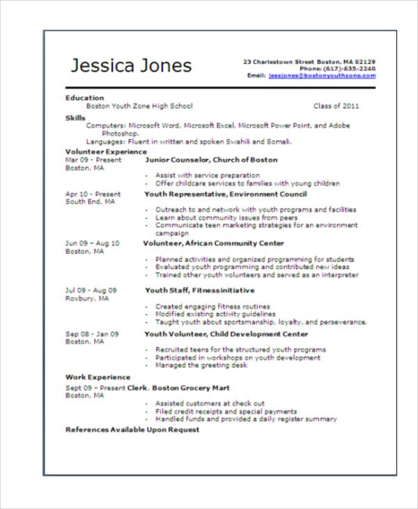 teenage resume templates pdf free premium examples for year olds template microsoft word Resume Resume Examples For 14 Year Olds
