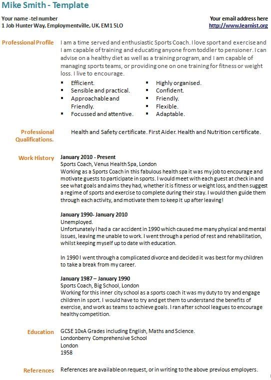 term unemployed cv example template learnist design cover letter free sample resume with Resume Sample Resume With Career Break