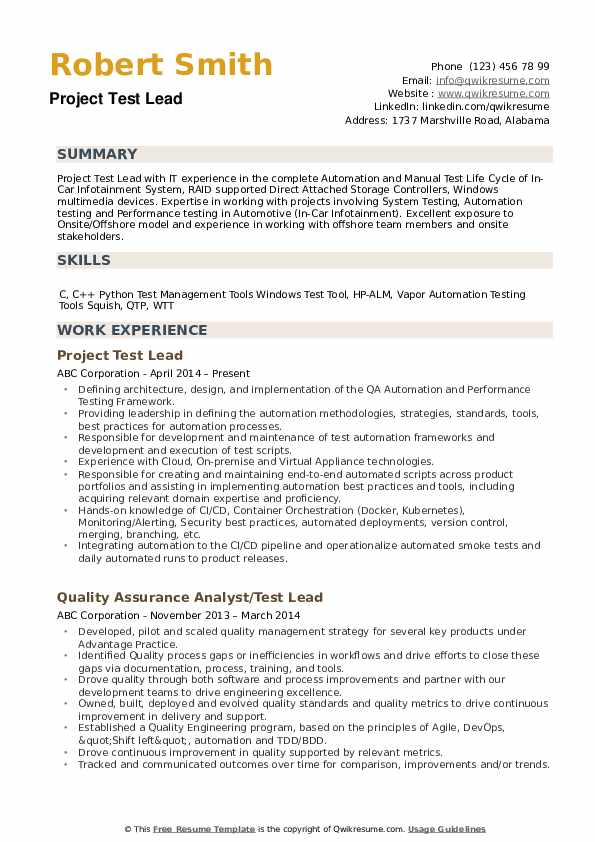 test lead resume samples qwikresume testing points pdf nicu startup free sample for Resume Mobile Testing Resume Points