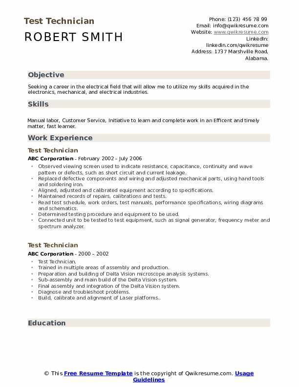 test technician resume samples qwikresume construction materials testing pdf best Resume Construction Materials Testing Technician Resume