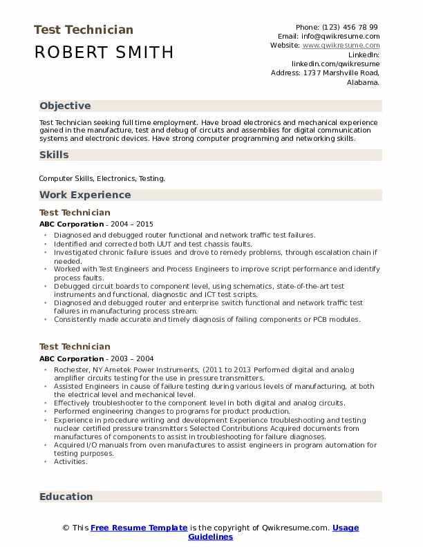 test technician resume samples qwikresume construction materials testing pdf manager Resume Construction Materials Testing Technician Resume