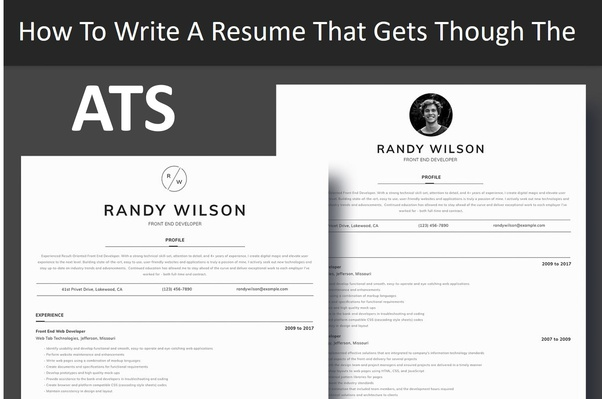 the best layout resume or cv for applicant tracking systems ats quora software temp job Resume Ats Software For Resume