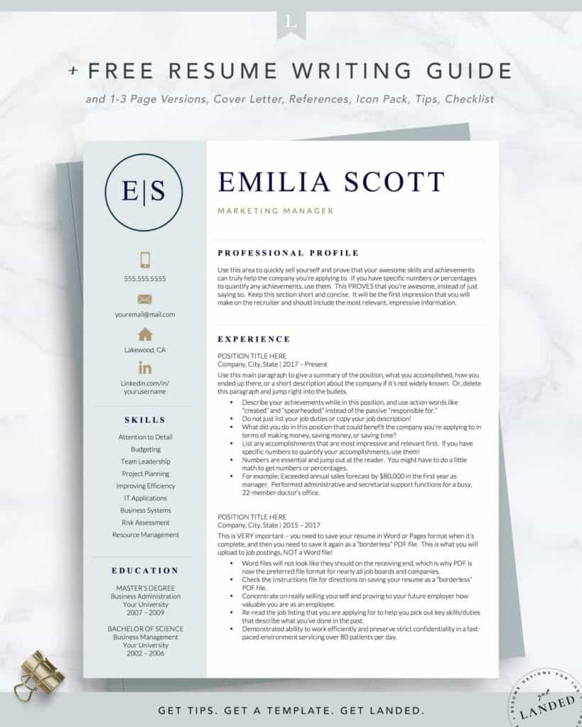 the best resume examples that get you hired in professional layout rnresumetemplate2 Resume Professional Resume Layout 2020