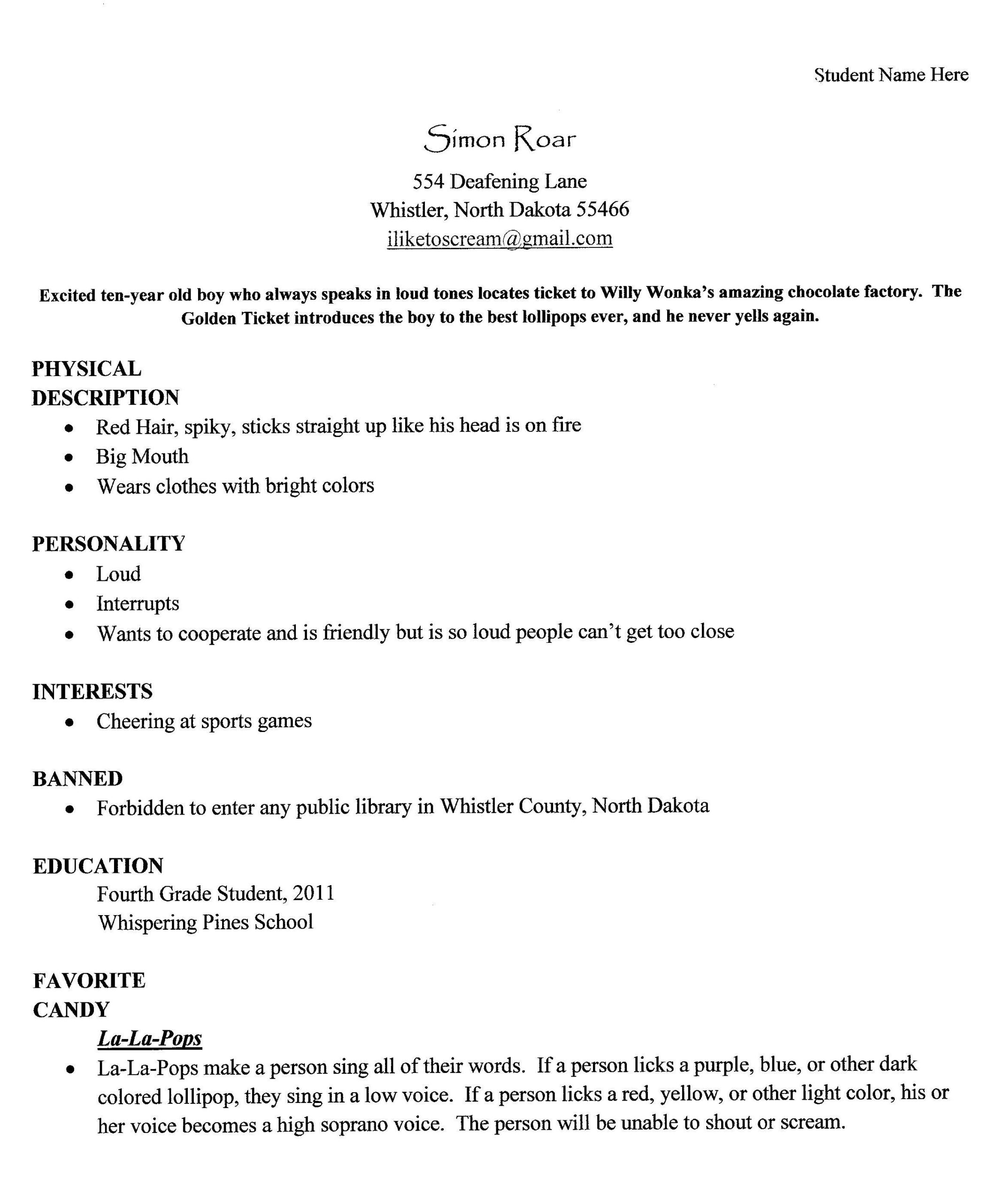 the lemonade war theroommom character traits for resume personal trainer skills business Resume Character Traits For Resume