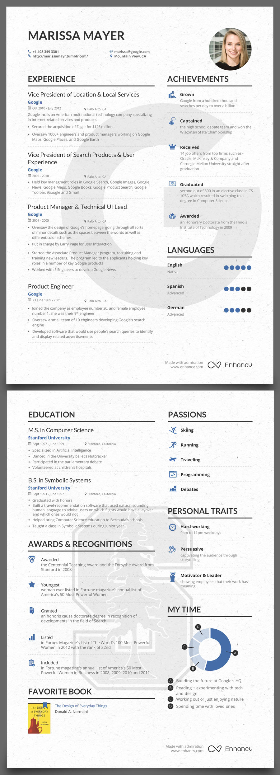 the success journey marissa mayer pre yahoo resume one blog free templates release Resume Marissa Mayer One Page Resume