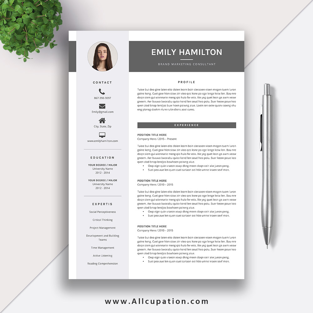 this eye catching editable word resume template for instant is more professional Resume Professional Eye Catching Resume