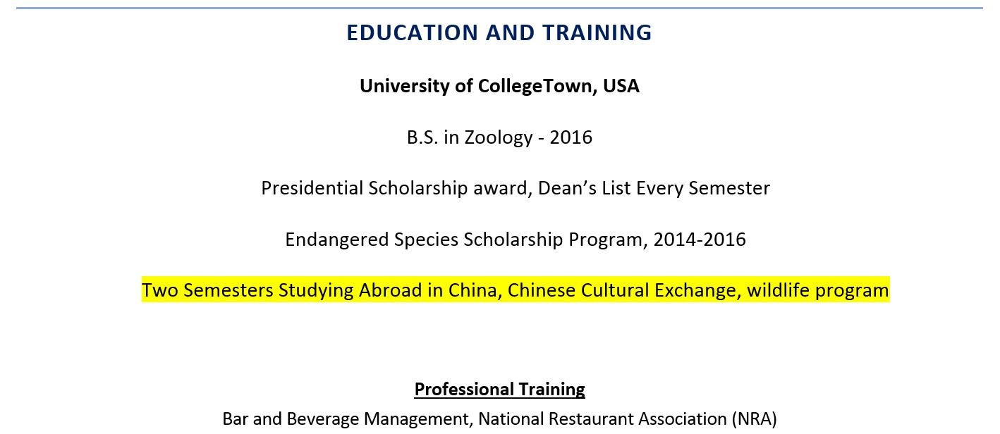 to include study abroad experience on resume examples including construction field Resume Study Abroad Experience On Resume