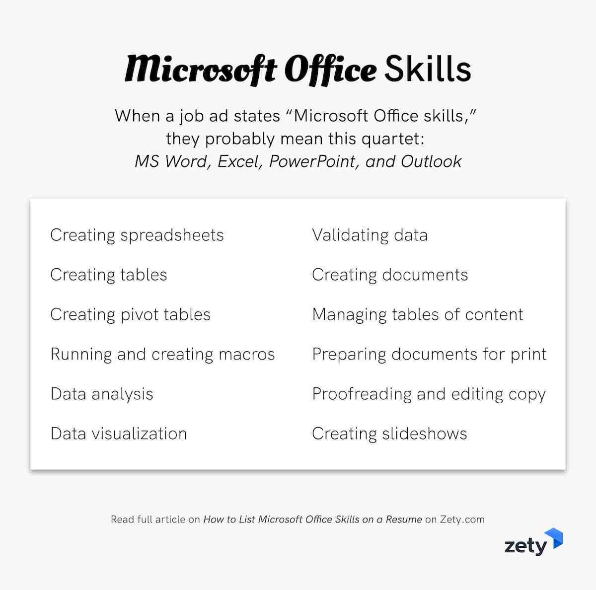 to microsoft office skills on resume in for skill roofing foreman luxury retail Resume Skills For Resume Microsoft Office