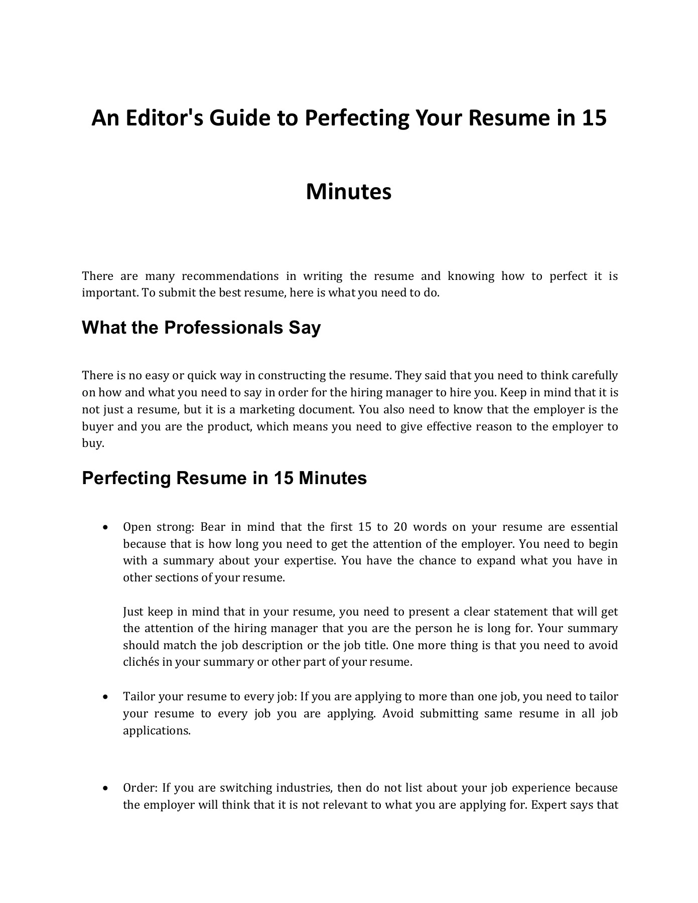 to perfect your resume in minutes text version anyflip submit here free clerical samples Resume Submit Your Resume Here