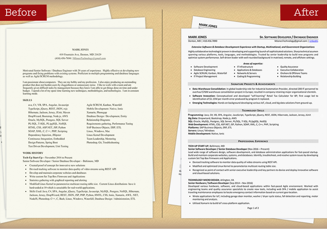 to update your resume and get hired out of work for years new compare before after Resume Resume Out Of Work For Years