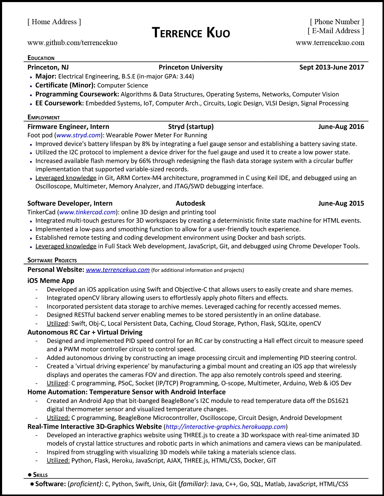 to write killer software engineering résumé by terrence kuo freecodecamp org medium Resume Dale Carnegie Certification On Resume