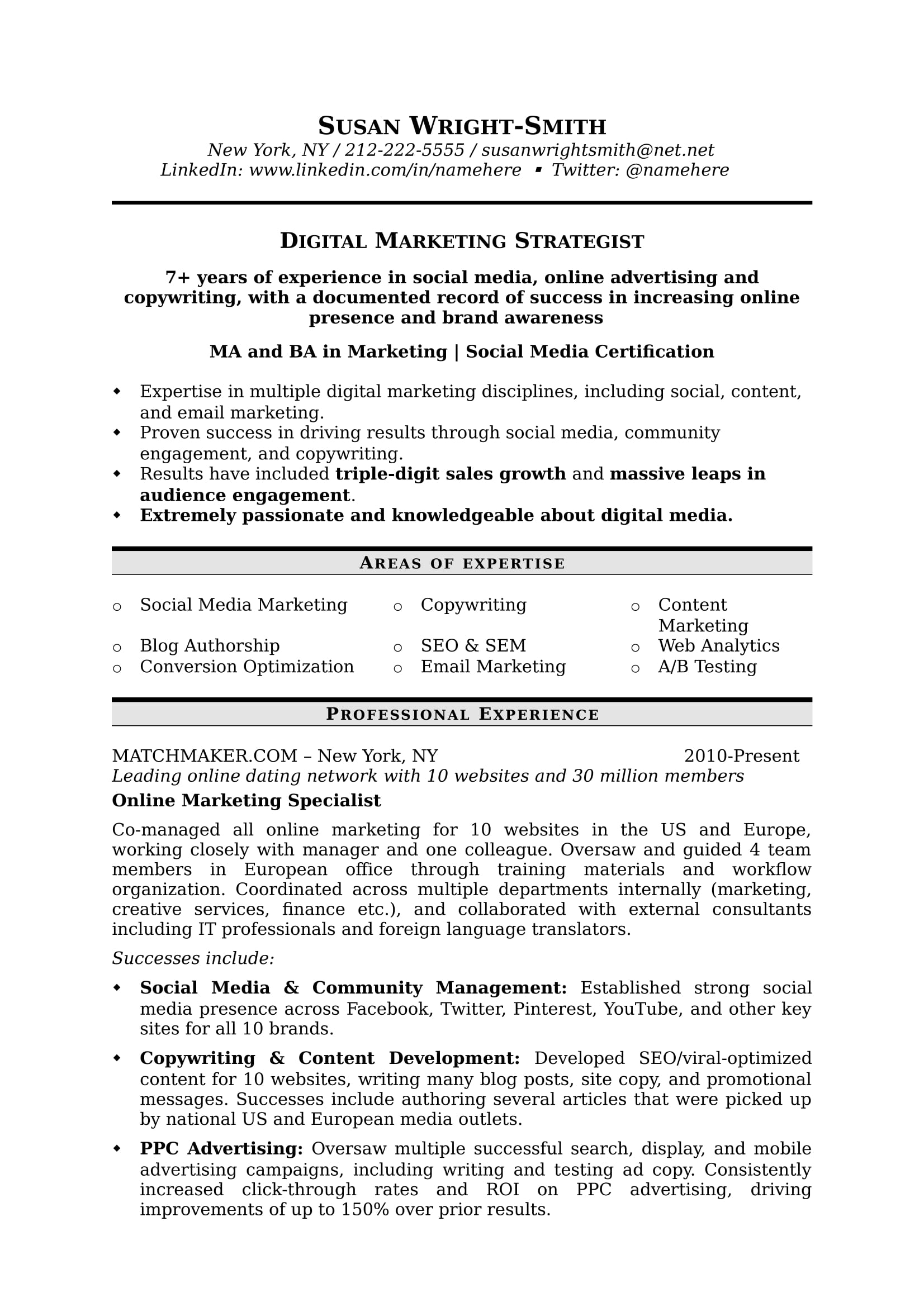 to write marketing resume hiring managers notice free templates samples content digital Resume Content Marketing Resume