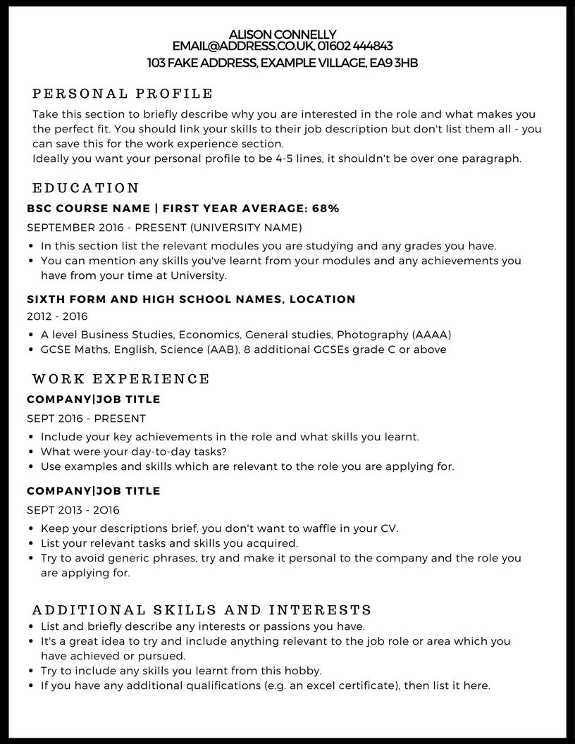 to write winning cv examples cover resume writing relevant interests for font pairings Resume Relevant Interests For Resume