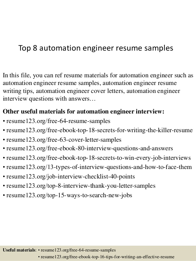 top automation engineer resume samples template rn objective healthcare works well with Resume Automation Engineer Resume Template