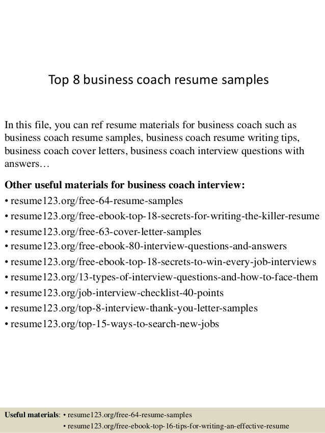top business coach resume samples coaching template nursing examples with clinical Resume Coaching Resume Template