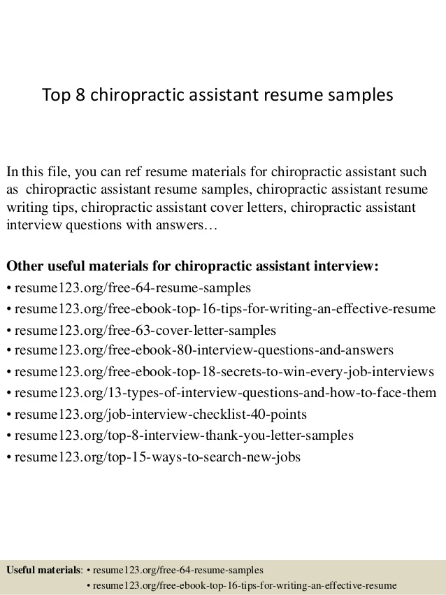 top chiropractic assistant resume samples job description for importance of writing Resume Chiropractic Assistant Job Description For Resume