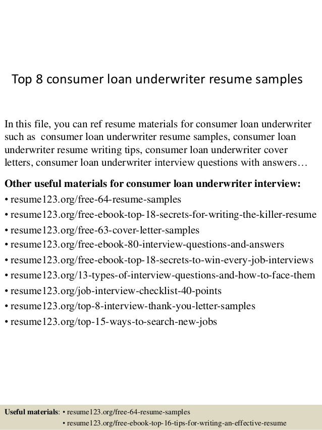 top consumer loan underwriter resume samples mortgage skills health care worker type up Resume Mortgage Underwriter Resume Skills