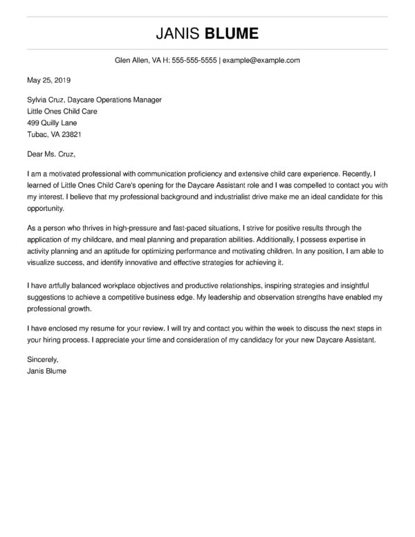 top cover letter templates get hired livecareer free sample for resume janis Resume Free Sample Cover Letter For Resume