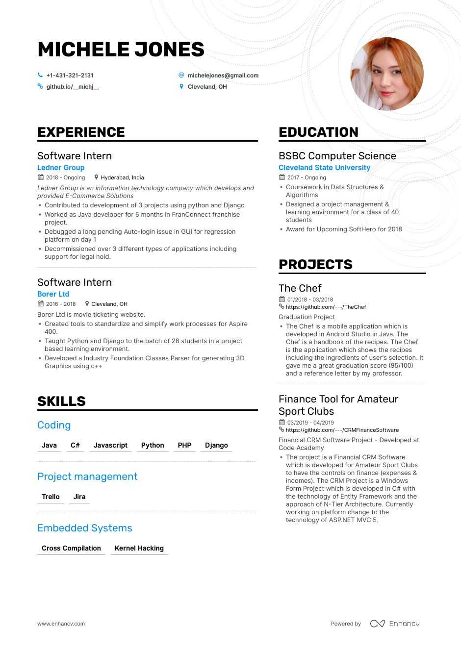 top entry level software engineer resume examples samples for enhancv systems jobfox Resume Entry Level Systems Engineer Resume