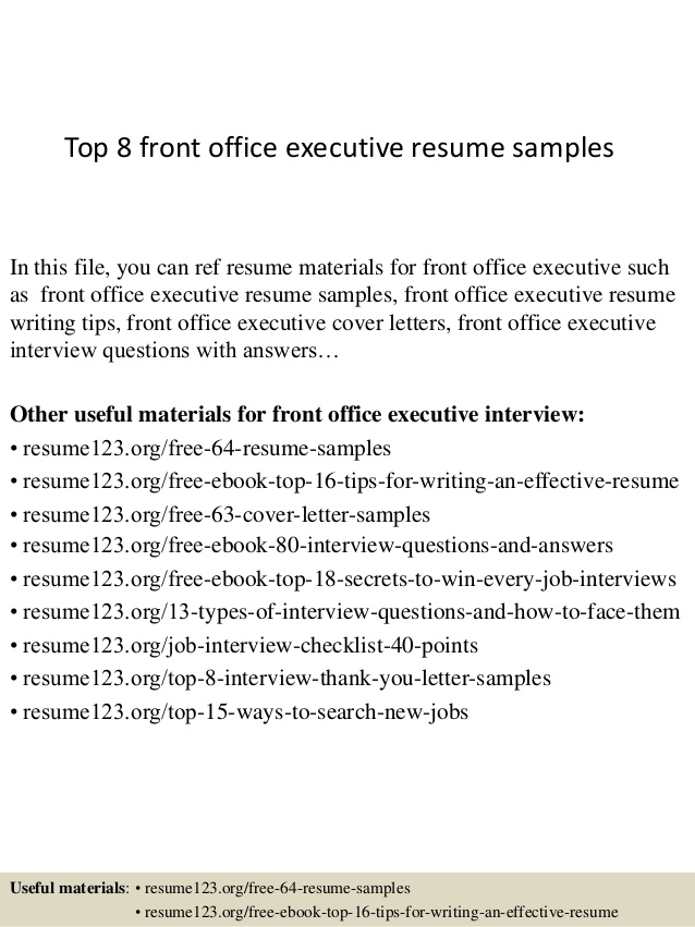top front office executive resume samples fresher stock clerk general music agile points Resume Front Office Executive Fresher Resume