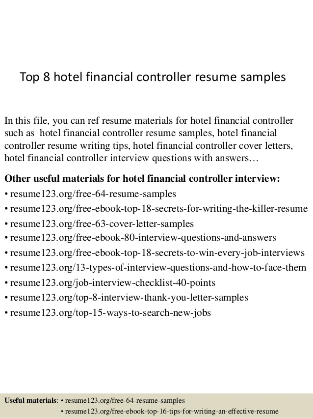 top hotel financial controller resume samples concise format professional help nyc outlet Resume Financial Controller Resume