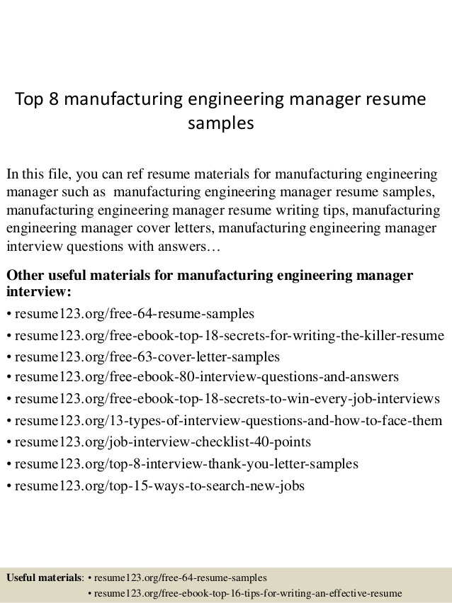 top manufacturing engineering manager resume samples engineer professional government Resume Manufacturing Engineer Resume