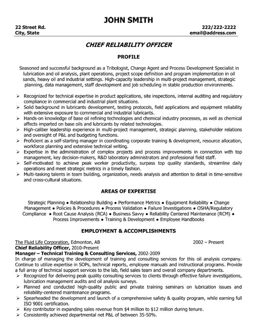 top oil gas resume templates samples and examples og executive chief reliability officer Resume Oil And Gas Resume Examples