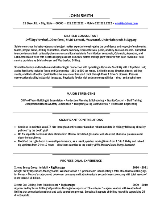 top oil gas resume templates samples and examples og executive oilfield consultant sample Resume Oil And Gas Resume Examples