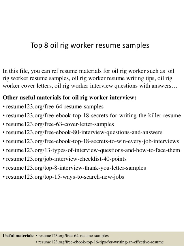 top oil rig worker resume samples template json projects excel vba on error next example Resume Oil Rig Resume Template