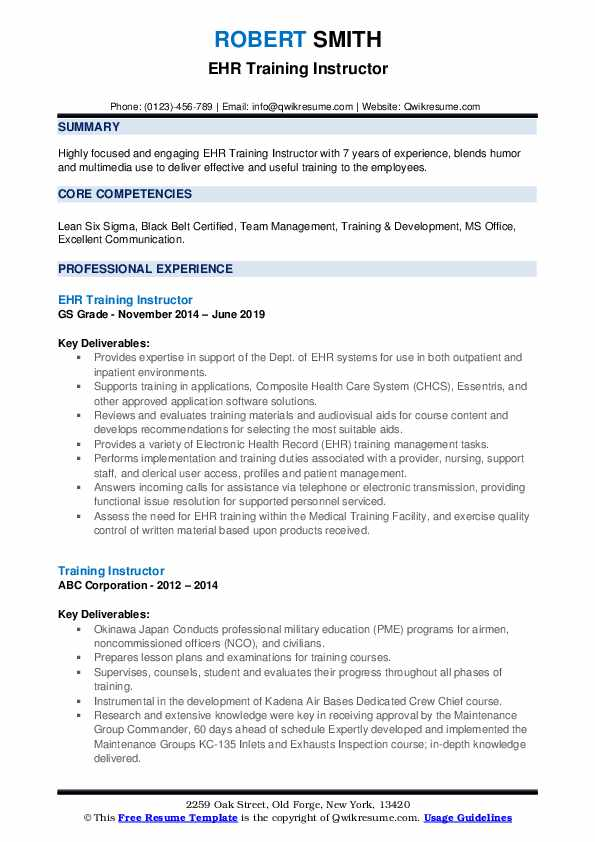 training instructor resume samples qwikresume sample pdf cdl driver cover letter action Resume Training Instructor Resume Sample