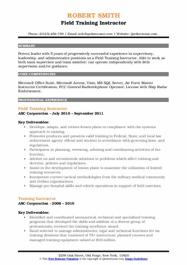 training instructor resume samples qwikresume sample pdf team player for auto fill Resume Training Instructor Resume Sample