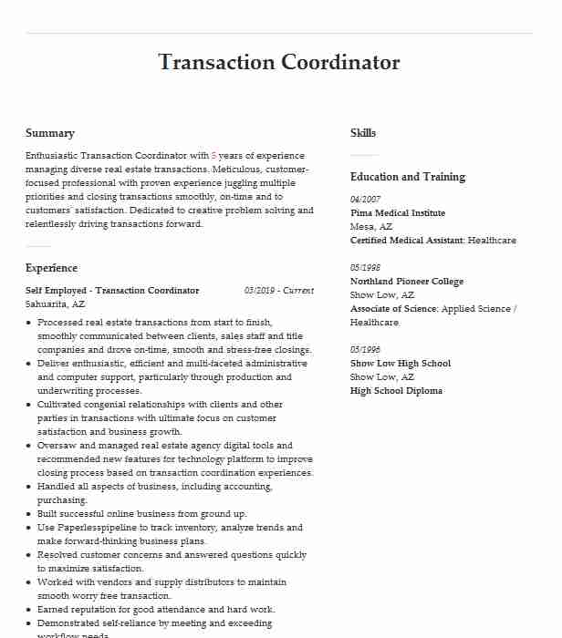transaction coordinator resume example the alchemy company chula vista estate junior Resume Real Estate Coordinator Resume