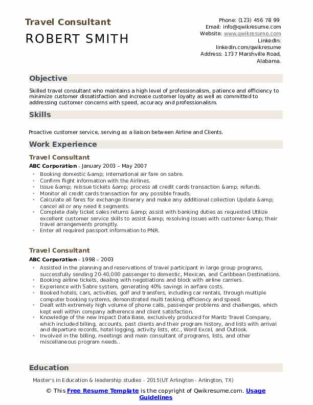 travel consultant resume samples qwikresume and tourism examples pdf linux acting maker Resume Travel And Tourism Resume Examples