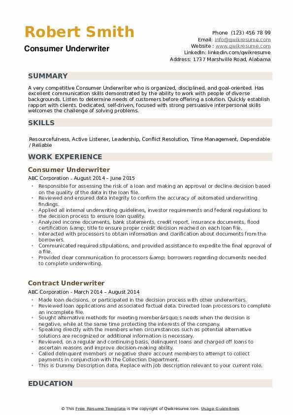 underwriter resume samples qwikresume mortgage skills pdf design free certifications for Resume Mortgage Underwriter Resume Skills
