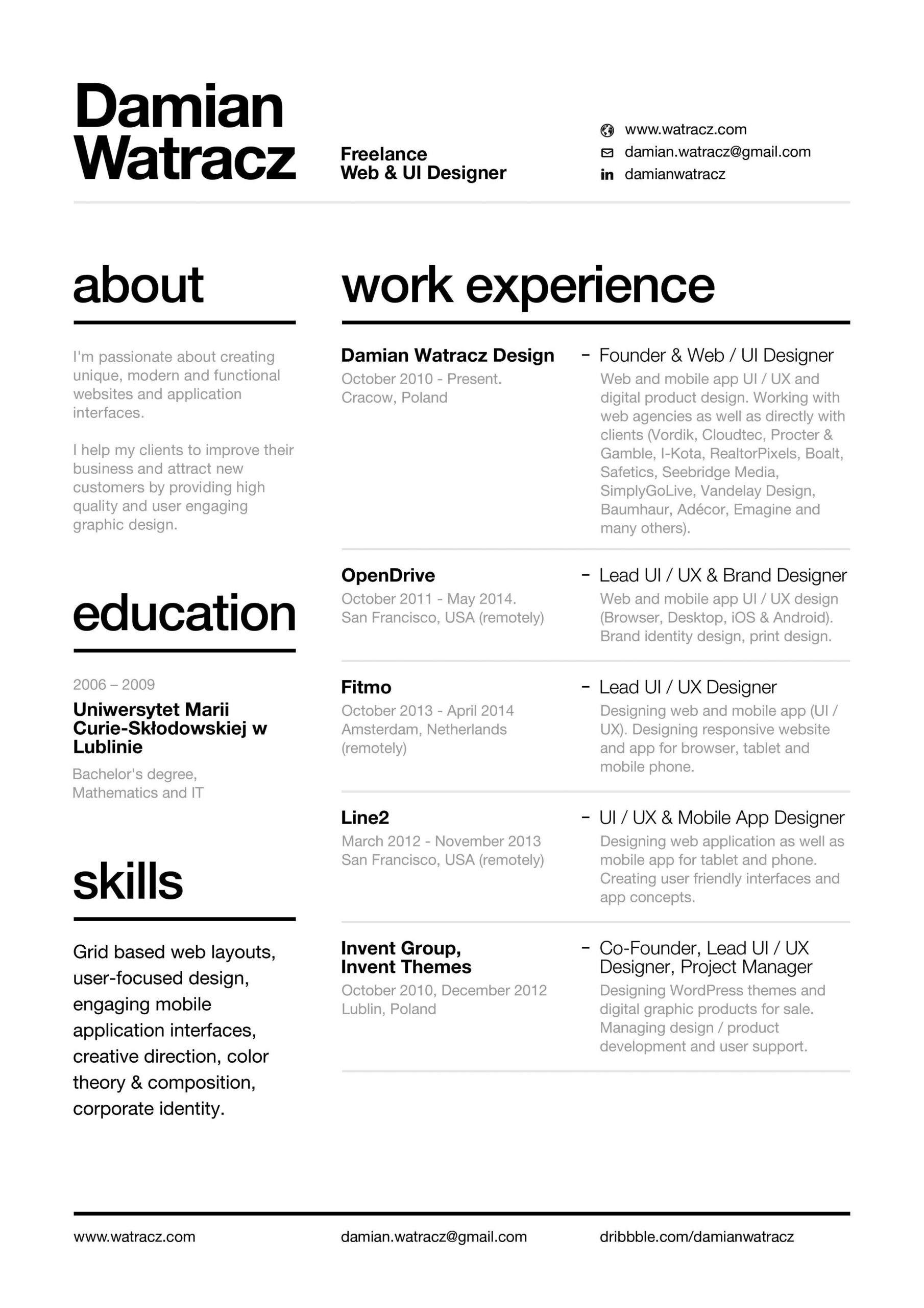using resume layout advice template graphic design creative friendly technical project Resume Mobile Friendly Resume Template