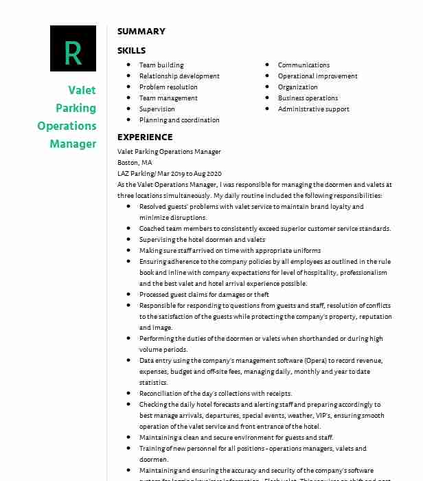 valet parking attendant resume example icon systems brooklyn new job description for Resume Valet Parking Job Description For Resume