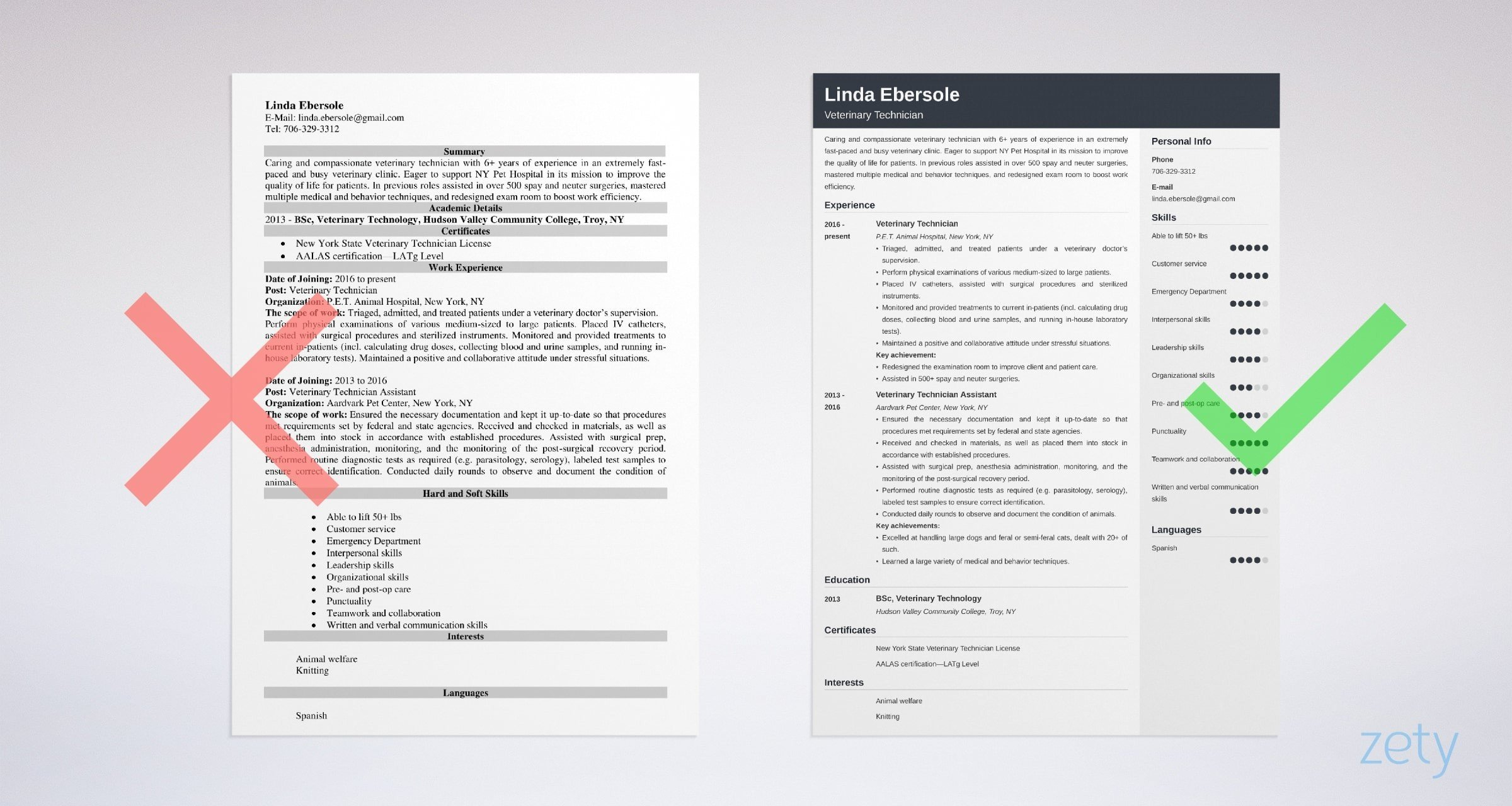 veterinary technician resume sample writing guide tips example infrastructure project Resume Veterinary Technician Resume