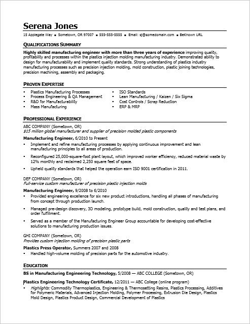 view this sample resume for midlevel manufacturing engineer to see you can improve your Resume Manufacturing Engineer Resume