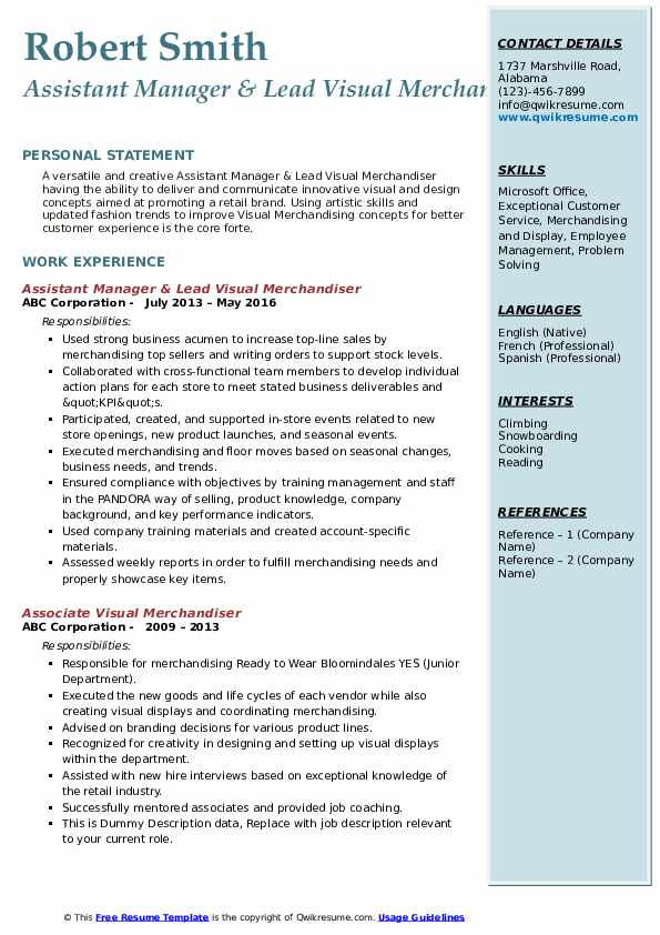 visual merchandiser resume samples qwikresume entry level fashion merchandising pdf Resume Entry Level Fashion Merchandising Resume